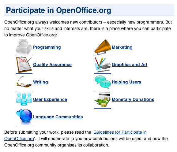 Participate in OpenOffice.org